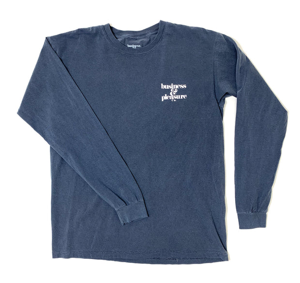 The B&PCO. Long Sleeve Tee - Lauren's Navy - Business & Pleasure Co