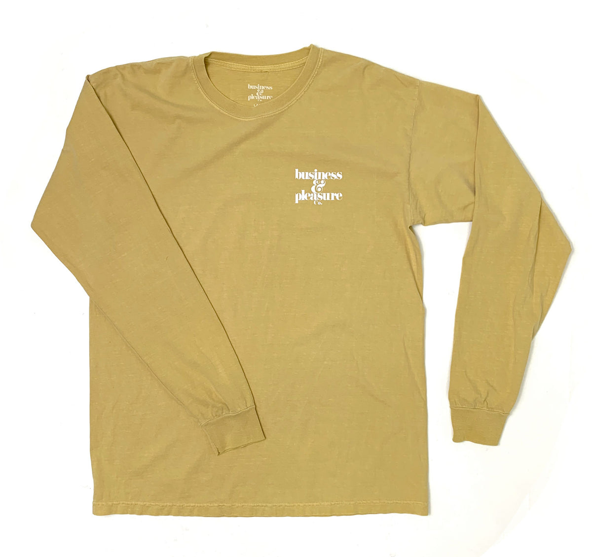 The B&PCO. Long Sleeve Tee - Vintage Yellow - Business & Pleasure Co