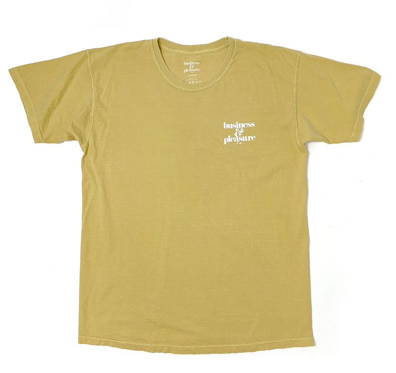The B&PCO. Tee - Vintage Yellow - Business & Pleasure Co