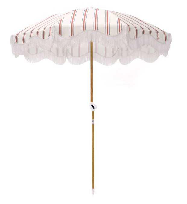 French Stripe Holiday Beach Umbrella - Business & Pleasure Co