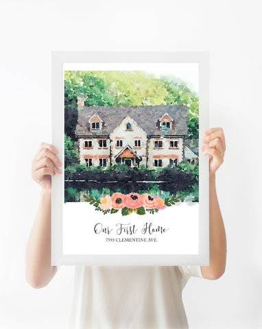Custom Watercolor Print