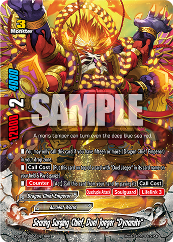 "X-BT01/0004 (RRR) - Searing Surging Chief, Duel Jaeger ""Dynamite"""