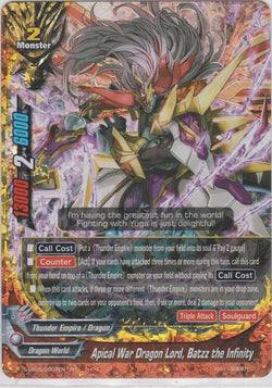 Apical War Dragon Lord, Batzz the Infinity (RR) S-UB05