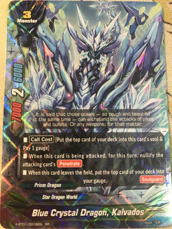 X-BT01/0016 (RR) - Blue Crystal Dragon, Kalvados