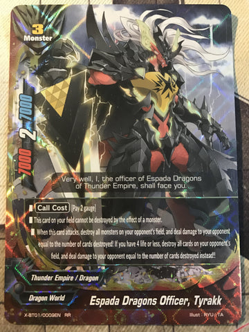X-BT01/0009 (RR) - Espada Dragons Officer, Tyrakk