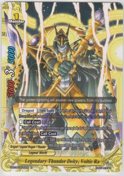 Legendary Thunder Deity, Voltic Ra (R) S-BT06