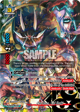 X-BT01/0003 (RRR) - Oni Boss, Kid Ibuki