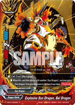 X-BT01/0022 (R) - Explosive Sun Dragon, Bal Dragon