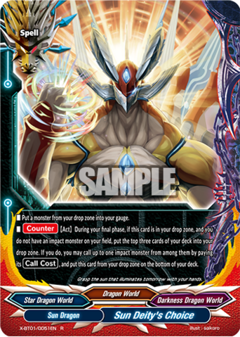 X-BT01/0051 (R) - Sun Deity's Choice