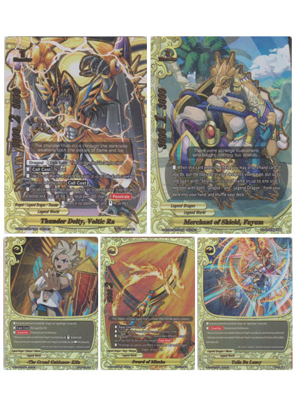Thunder Deity, Voltic Ra (5 Card Secret Pack) S-BT06