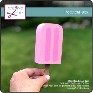 3D Popsicle Treat Box SVG Pattern - It's New!