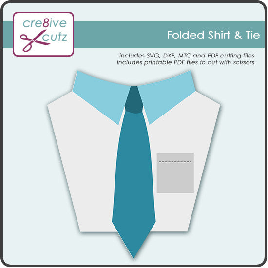 New Freebie - Folded Shirt & Tie SVG Cutting File