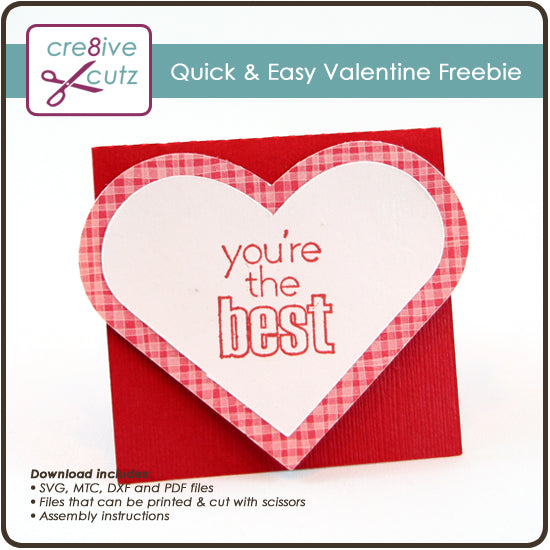 Quick & Easy Valentine Project - New SVG Freebie