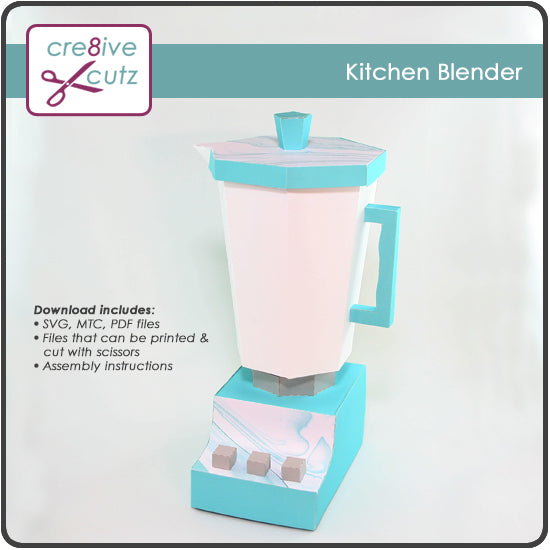 New! 3D Kitchen Blender SVG Gift Box