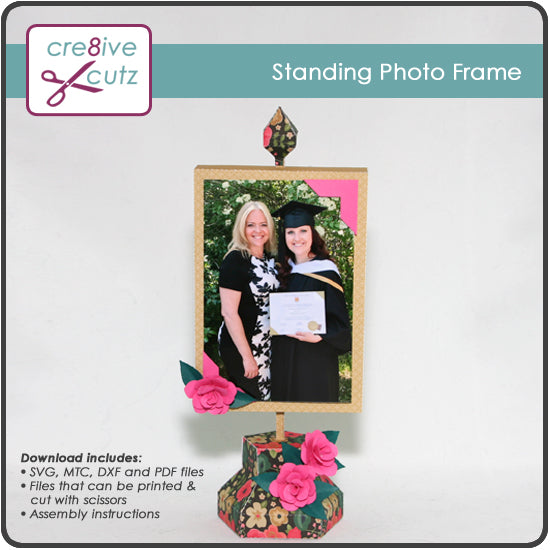 New - Standing Photo Frame 3D Papercrafting Project