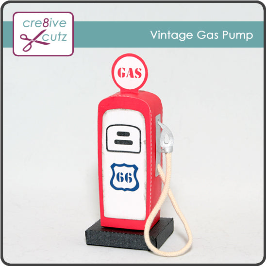 New! Vintage Gas Pump 3D Papercrafting Pattern