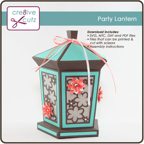 3D Party Lantern SVG Cutting File