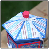 Top view of lid from July 4th Party Lantern SVG Pattern