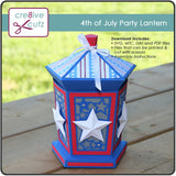 3D 4th of July Luminary papercrafting project
