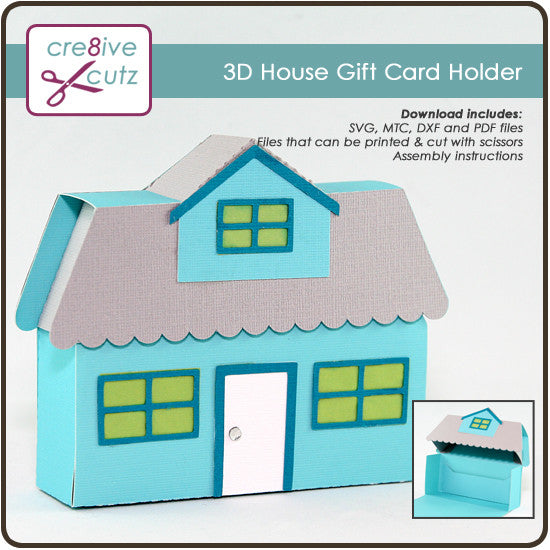 3D House Gift Card Holder