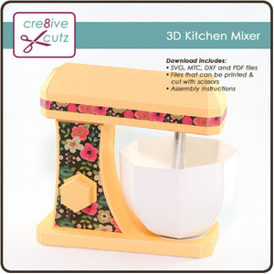 Kitchen Mixer - 3D Paper Craft Project