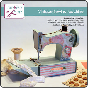 3D Vintage Sewing Machine