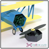 Hidden storage inside front of 3D Paper Plane. Perfect as Gift Box or valuables storage.