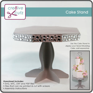 Cake Stand - 3D Papercraft Project