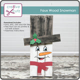 Faux Wood (Palette Board) Snowman