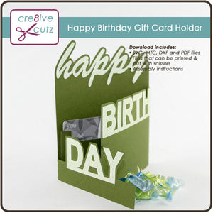 Happy Birthday Gift Card Holder Cre8ive Cutz