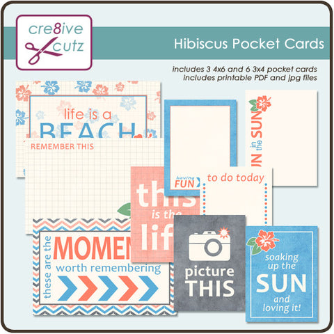 Hibiscus Pocket Scrapbooking Cards