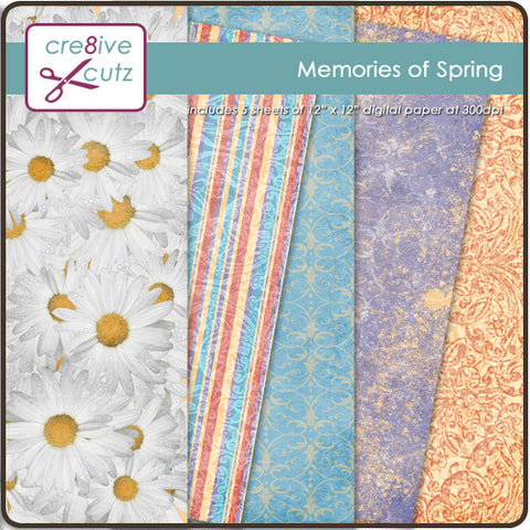 Memories of Spring Digital Paper Pack