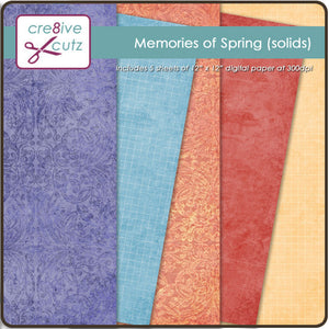 Memories of Spring (Solids) Digital Paper Pack