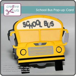School Bus Pop-up Card