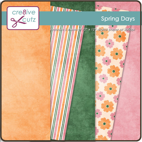 Spring Days Digital Paper Pack