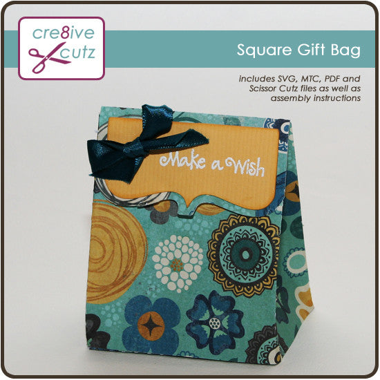 Square Gift Bag - Free 3D Paper Craft Project