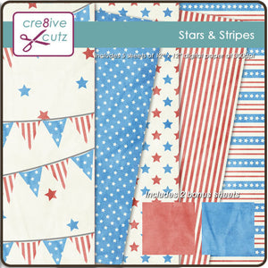 Stars  Stripes Digital Paper Pack