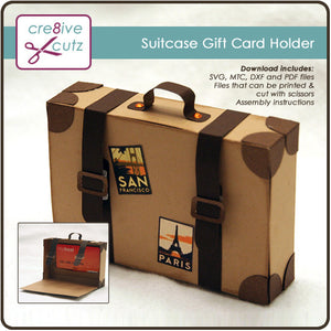 Suitcase Gift Card Holder