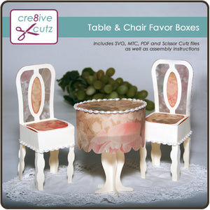 Table & Chair Favor Boxes