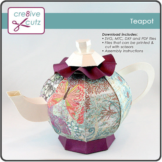 Teapot - 3D Papercraft Project