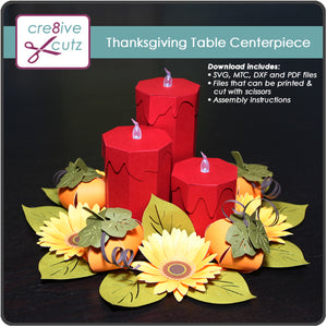 3D Paper table centerpiece craft project. Cricut compatible.