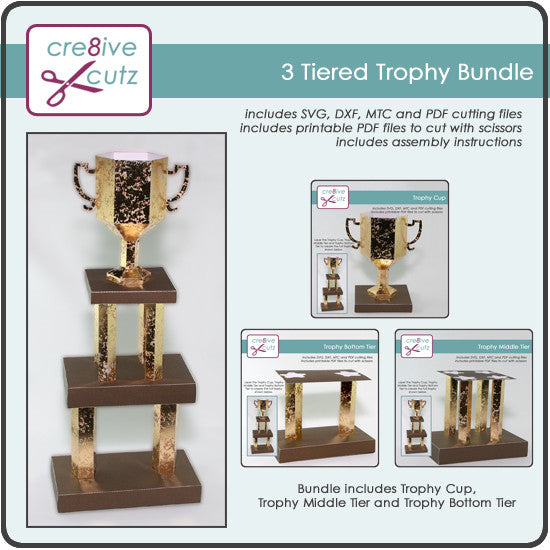 3D Tiered Trophy Bundle