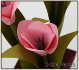 Tulips in a Vase - 3D Flowers Craft Project