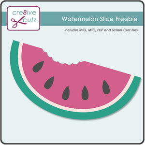 Juicy Watermelon Slice SVG cutting file for Cricut Design Space