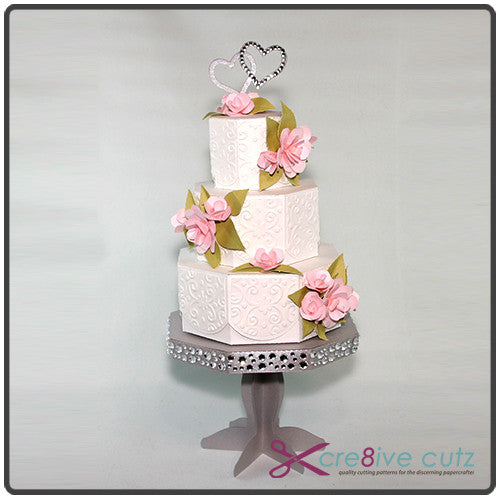 ... Tiered Wedding Cake U0026 Cake Stand 3D SVG Project