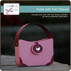 Purse with Tab Closure