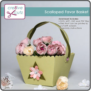 Scalloped Top Favor Basket