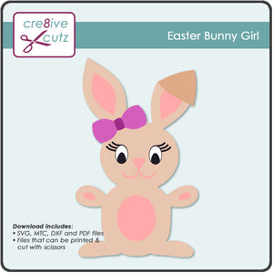 Girl Easter Bunny Craft Pattern for Kids