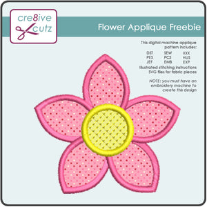 Flower Applique Freebie