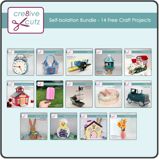 Self-Isolation Bundle - 14 Free Craft Projects